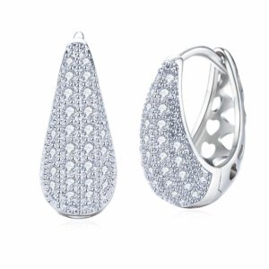 Gold Plated Stylish Hoop Earrings for Women and Girls