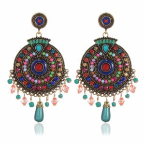 Youbella Bohemian Multicolor Metal Earrings