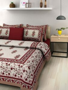 BedZone Cotton Bedsheets for Double