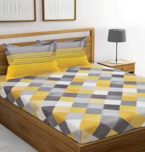 HUESLAND Cotton Double Bedsheet