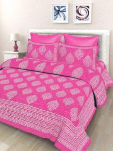 SheetKart Floral Cotton Double Bedsheet