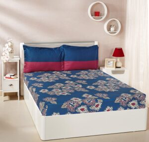 Solimo Floral Flakes Double Bedsheet