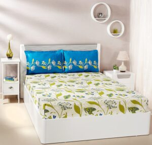 Solimo Lily Bloom Cotton Double Bedsheet